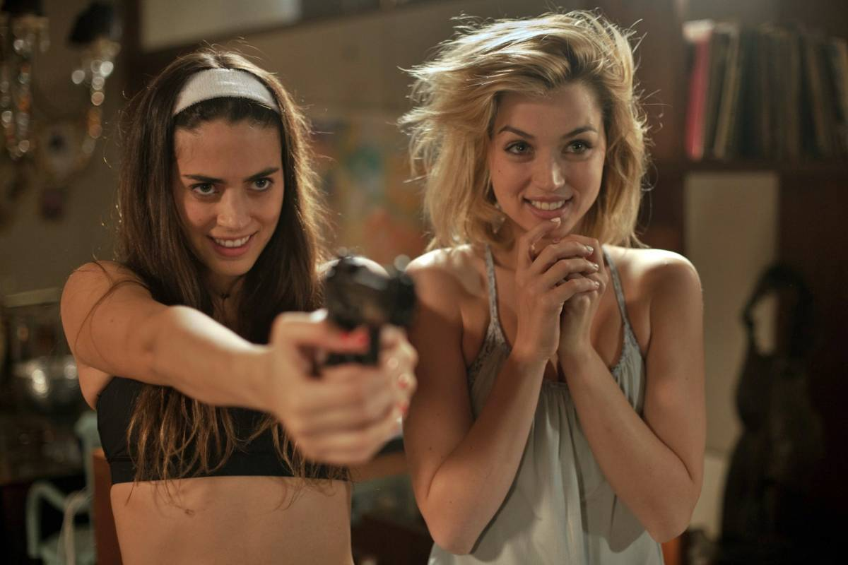 Lorenza Izzo and Ana De Armas in Knock Knock (2015)