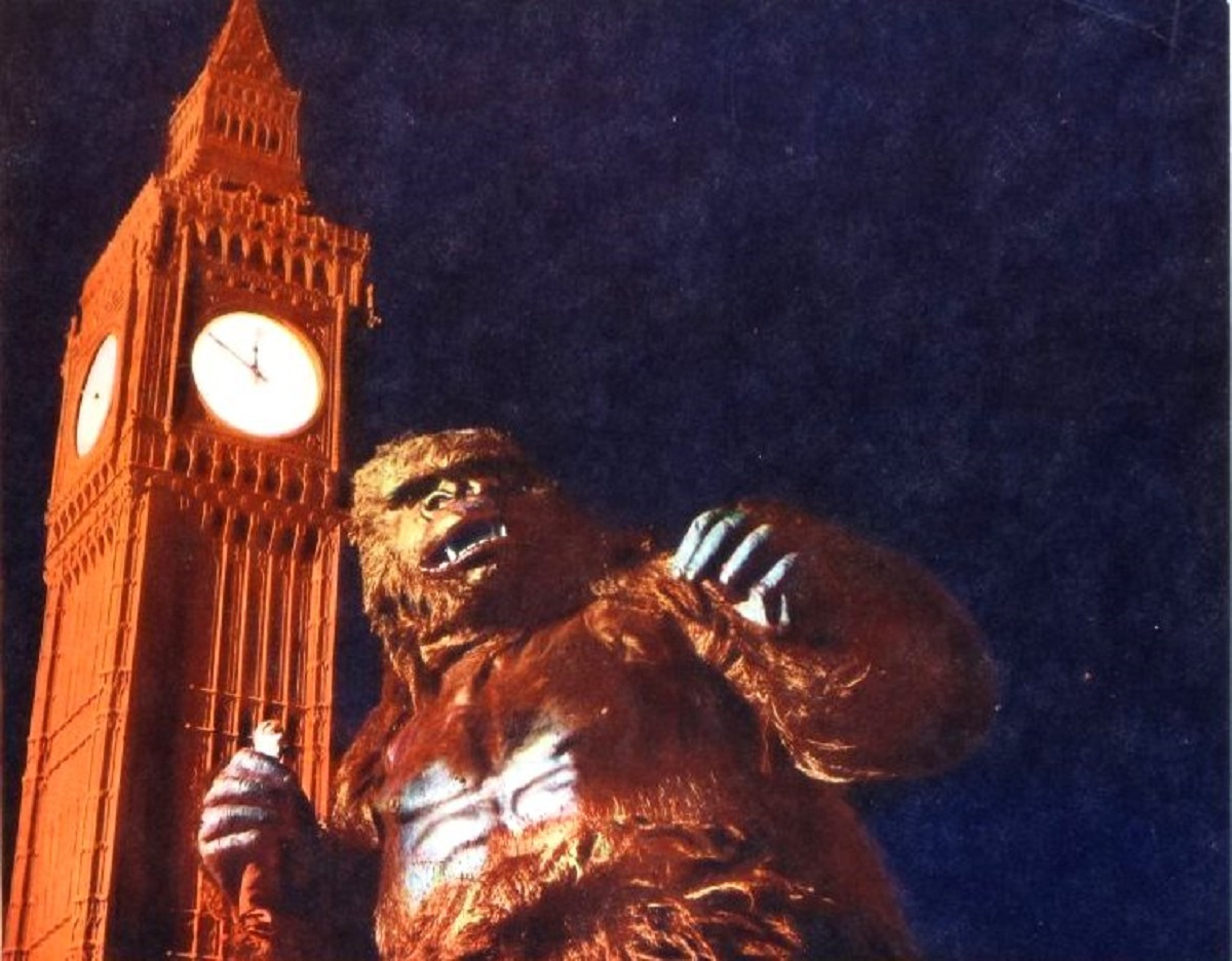 The giant-sized Konga up against Big Ben in Konga (1961)