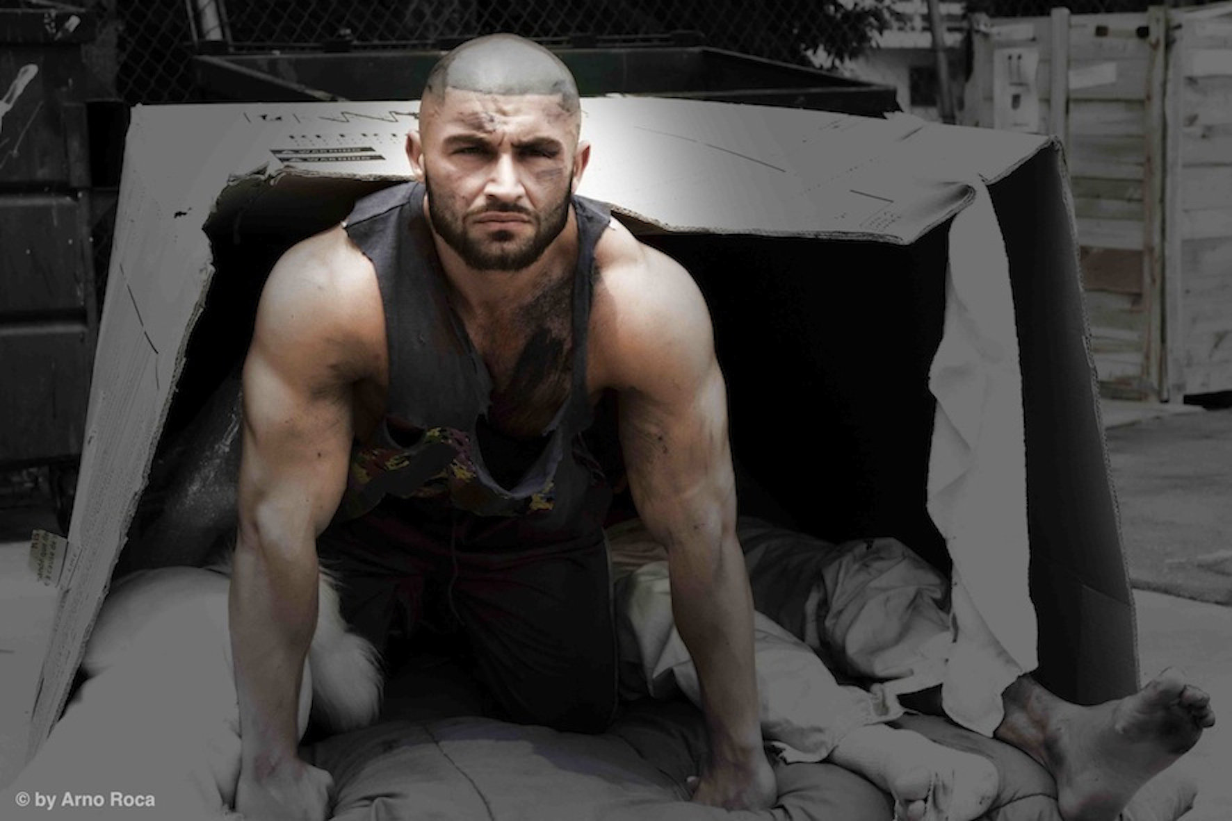 Francois Sagat as the zombie in L.A. Zombie (2010)