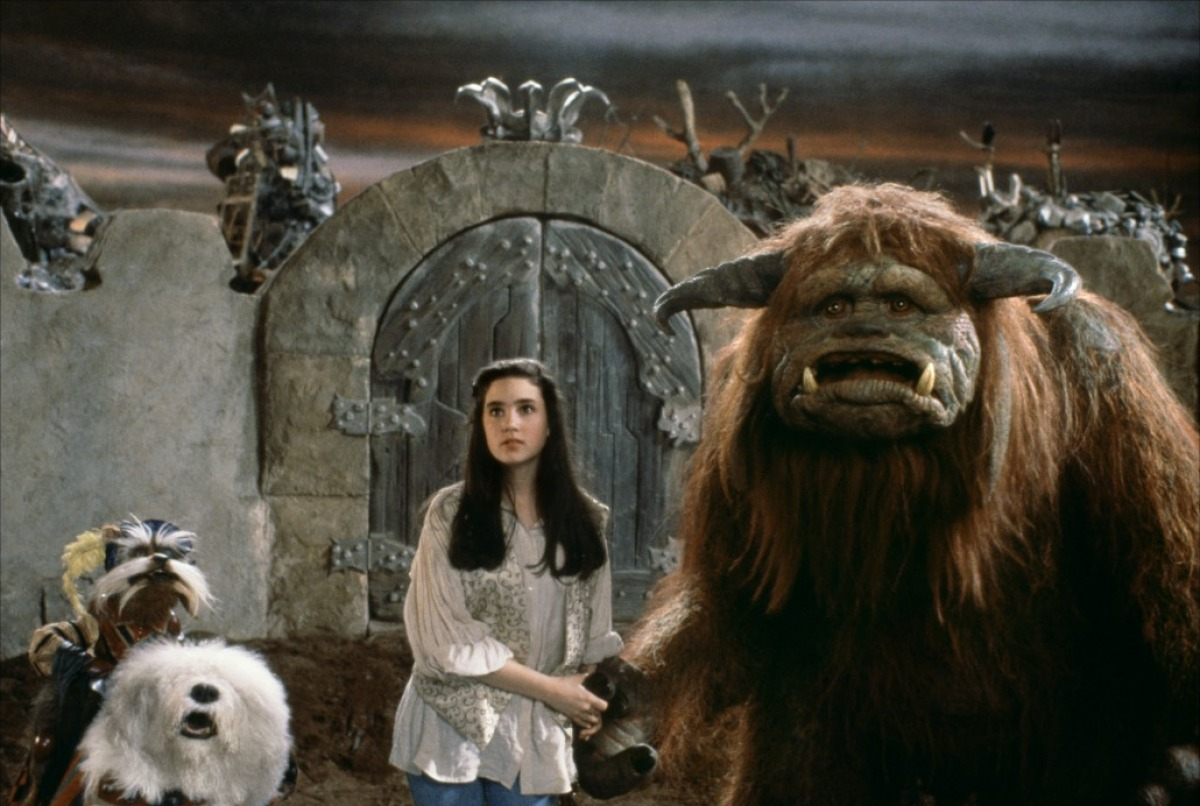 Sarah (Jennifer Connelly) and Ludo make their way through the Labyrinth (1986)