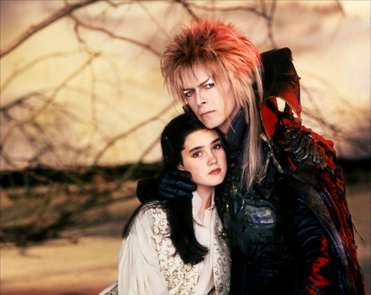 Sarah (Jennifer Connelly) and the goblin king Jareth (David Bowie) in Labyrinth (1986)