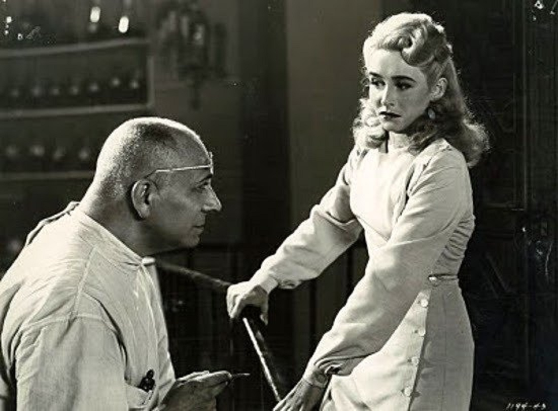 Erich von Stroheim and Vera Hruba Ralston in The Lady and the Monster (1944)