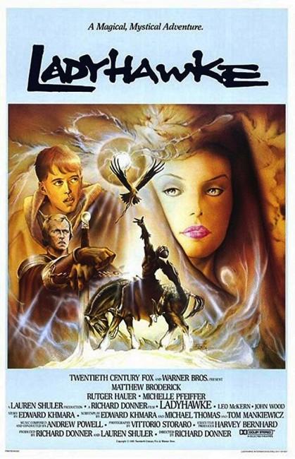 Ladyhawke (1985) poster