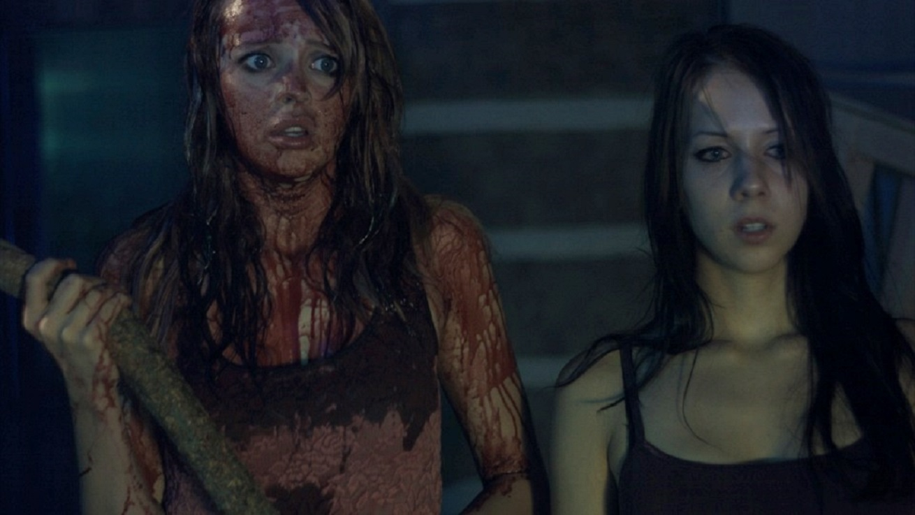 Jessica Dawn Willis and Shanon Snedden in Lake Fear (2014)