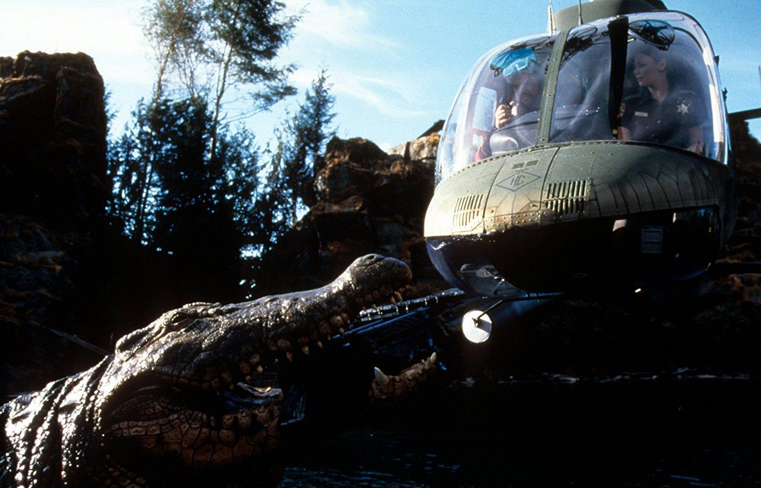 Giant crocodile vs helicopter in Lake Placid (1999)