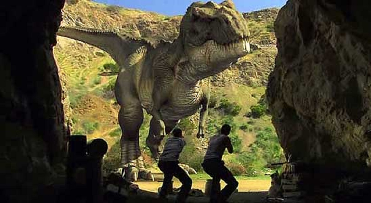 Encountering dinosaurs in The Land That Time Forgot (2009)