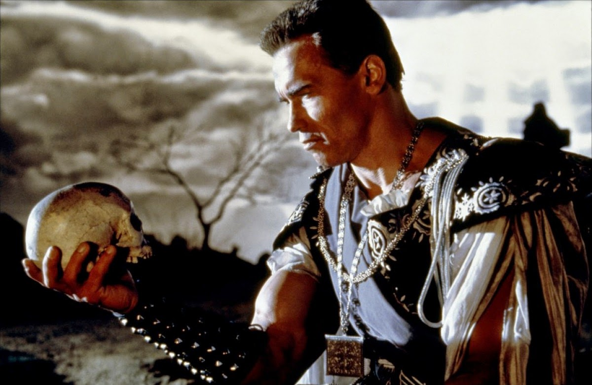 Arnold Schwarzenegger as Hamlet in Last Action Hero (1993)