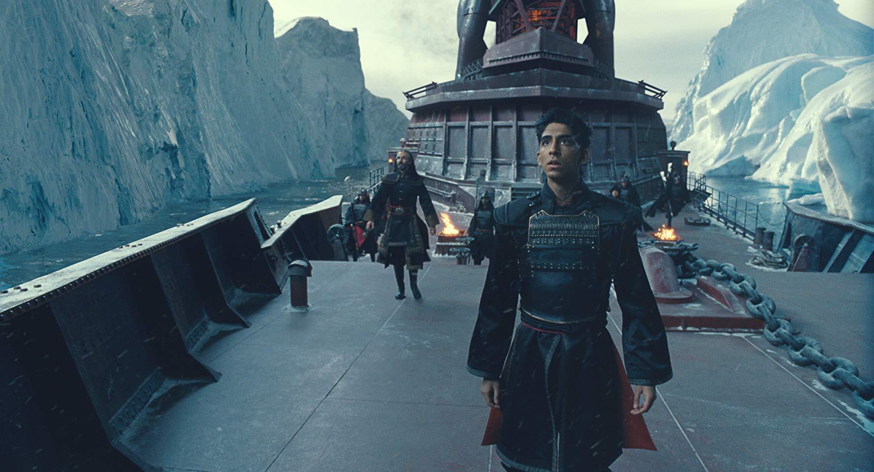 Prince Zuko (Dev Patel) aboard warship in The Last Airbender (2010)