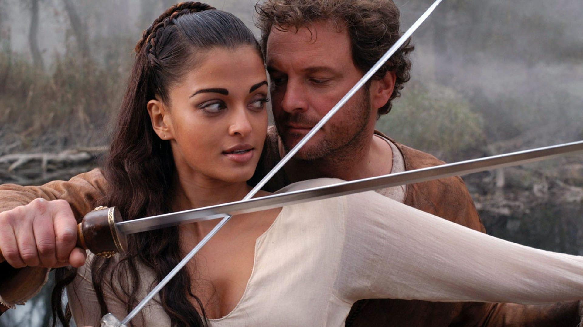 Aishwarya Rai as the warrior woman Mira and Colin Firth as the legionnaire Aurelius Antonius in The Last Legion (2007)