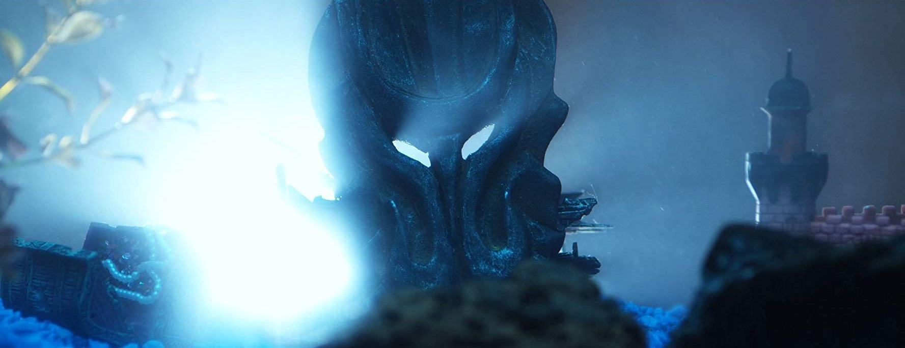 Cthulhu stirs from his resting place in the lost city of R'yleh in The Last Lovecraft: Relic of Cthulu (2009)