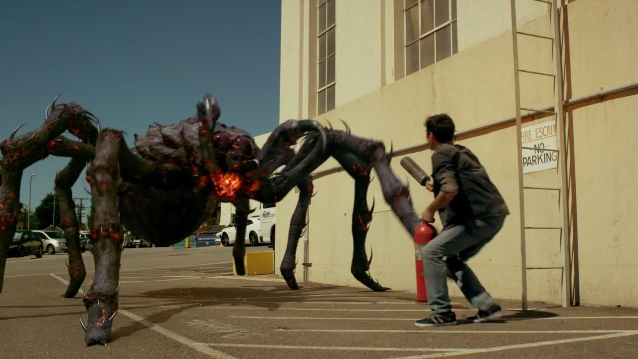 Giant fire-breathing spiders in Lavalantula (2015)