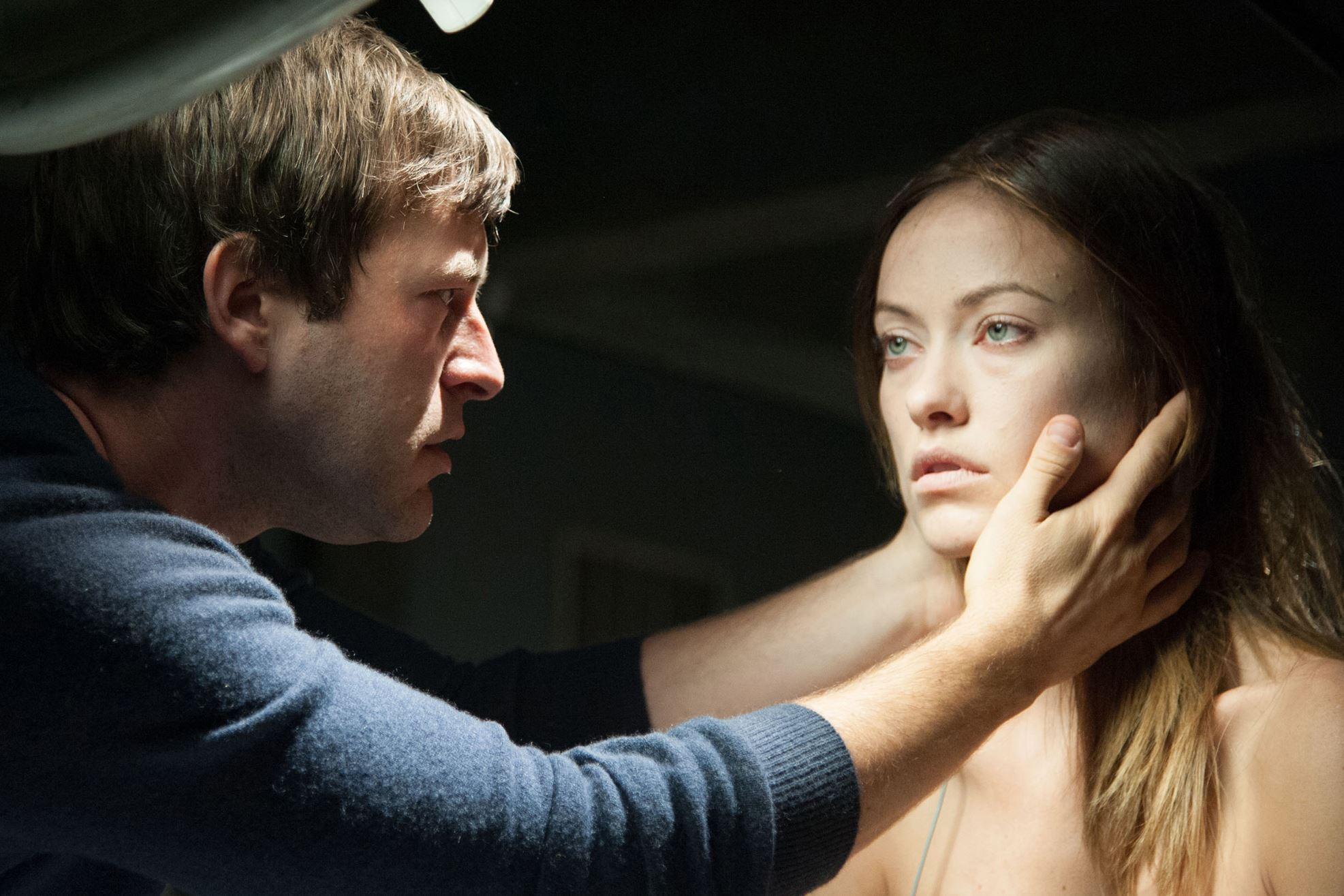 Mark Duplass, Olivia Wilde in The Lazarus Effect (2015)