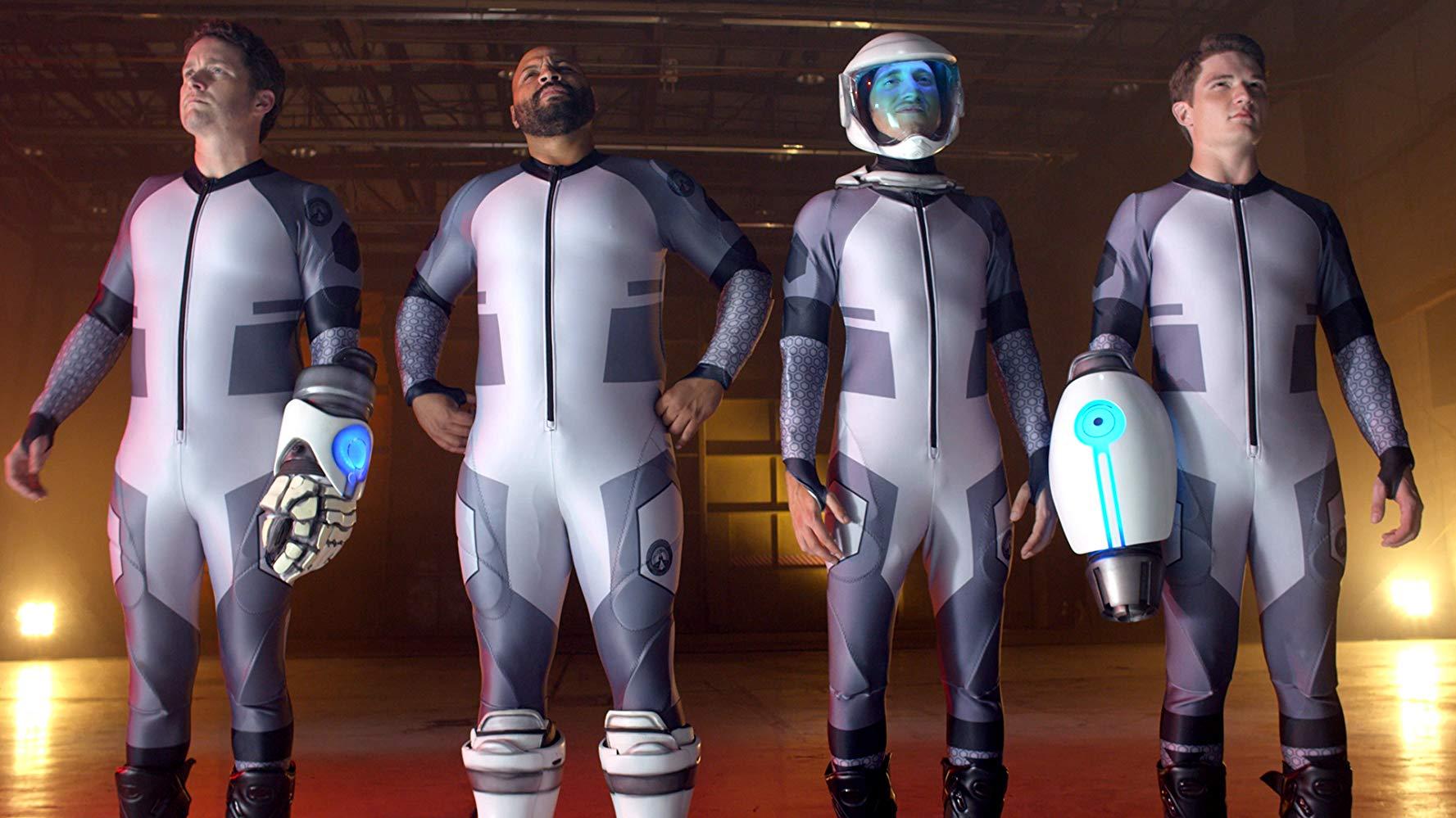 Burnie Burns, Colton Dunn, Gavin Free and Michael Jones in Lazer Team (2015)