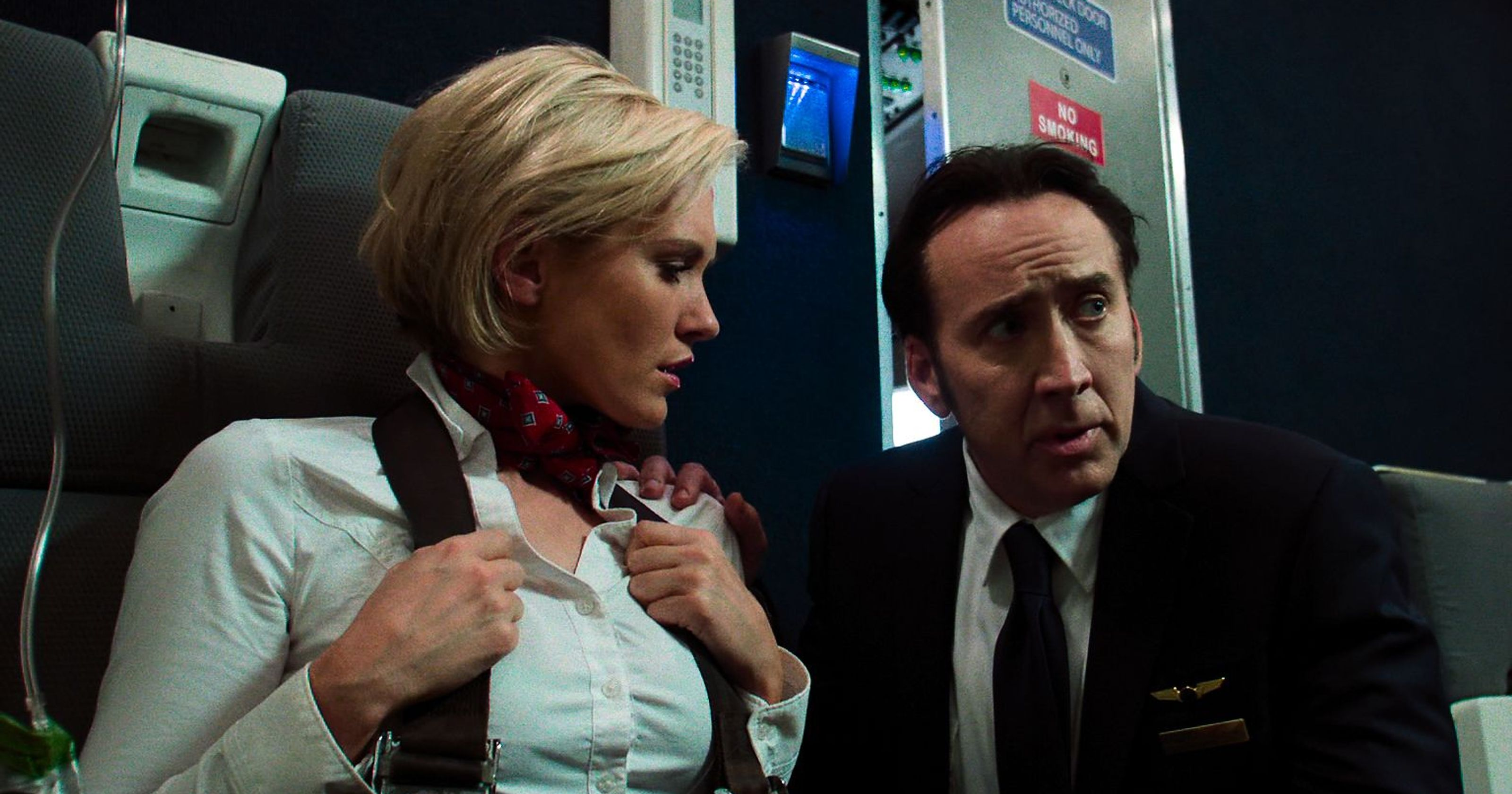 Nicolas Cage, Nicky Whelan in Left Behind (2014)