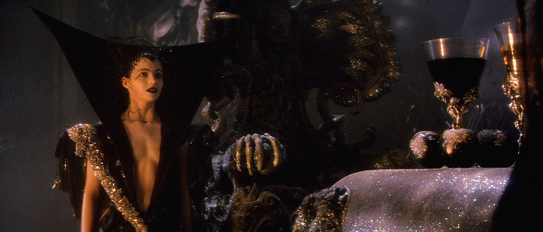 The seduction of Lili (Mia Sara) in Legend (1985)