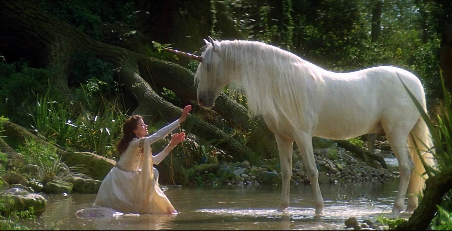 Lili (Mia Sara) discovers the unicorn in Legend (1985)