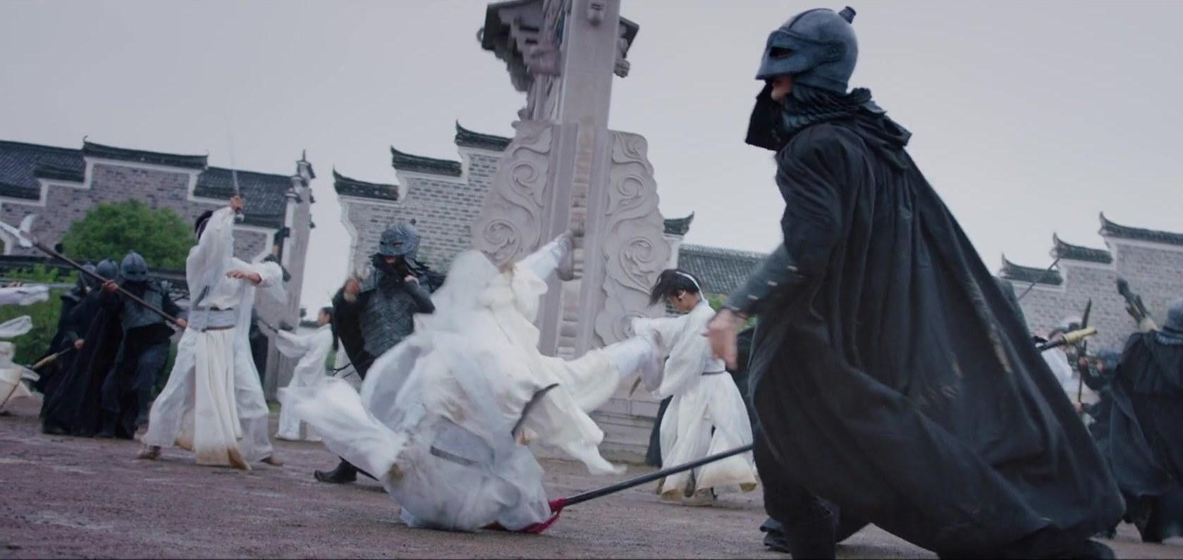 Opening battle scene in The Legend of Zu (2018)