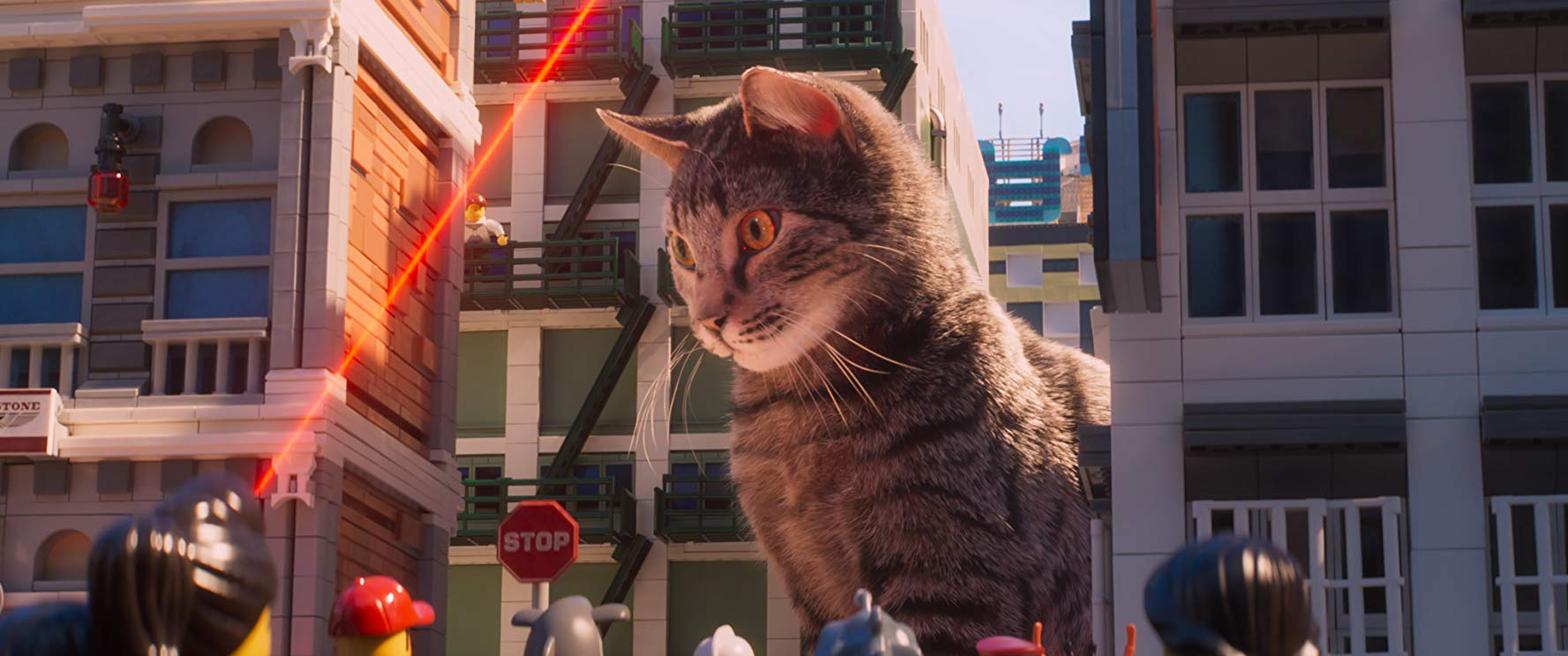 The unveiling of the Ultimate Weapon - a cat and laser pointer in The Lego Ninjago Movie (2017)