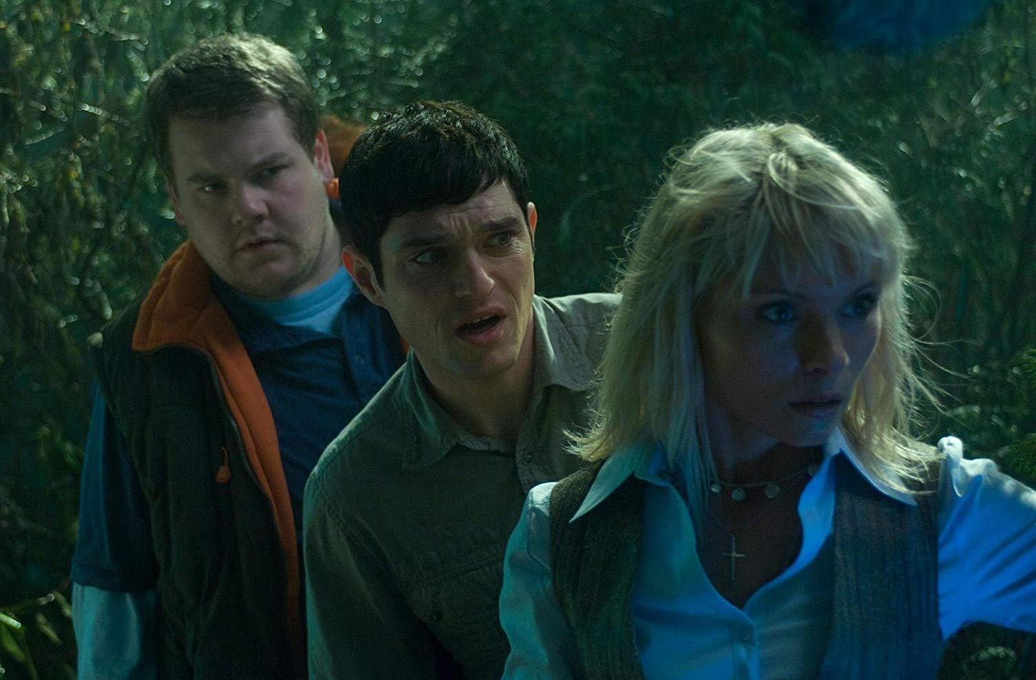 (l to r) Best friends James Cordern and Mathew Horne, along with MyAnna Buring set out to tackle lesbian vampires in Lesbian Vampire Killers (2009)