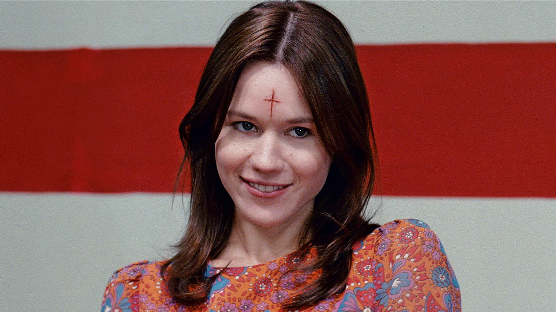 Kristen Hager as Leslie Van Houten, one of the Manson Girls in Leslie, My Name is Evil (2009)