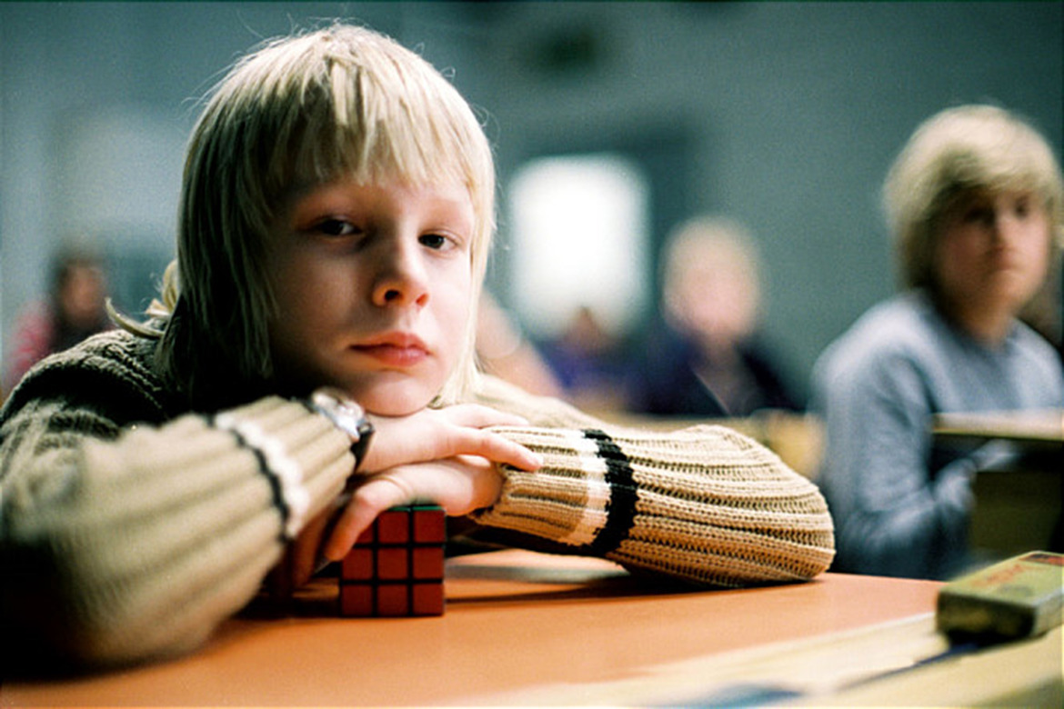 Kåre Hedebrant as the twelve year-old Oskar in Let the Right One In (2008)