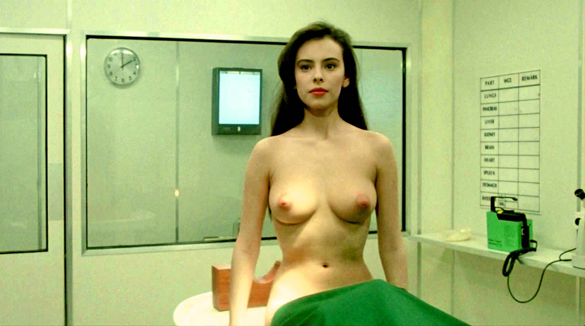The alien vampire woman - Mathilda May who spends much of the film spectacularly undressed in Lifeforce (1985)