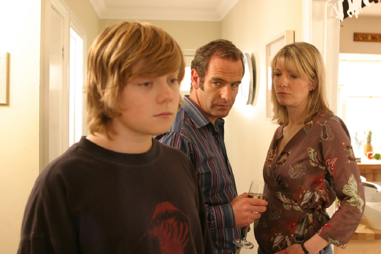 Somerset Prew, Robson Green and Jemma Redgrave in Like Father Like Son (2005)