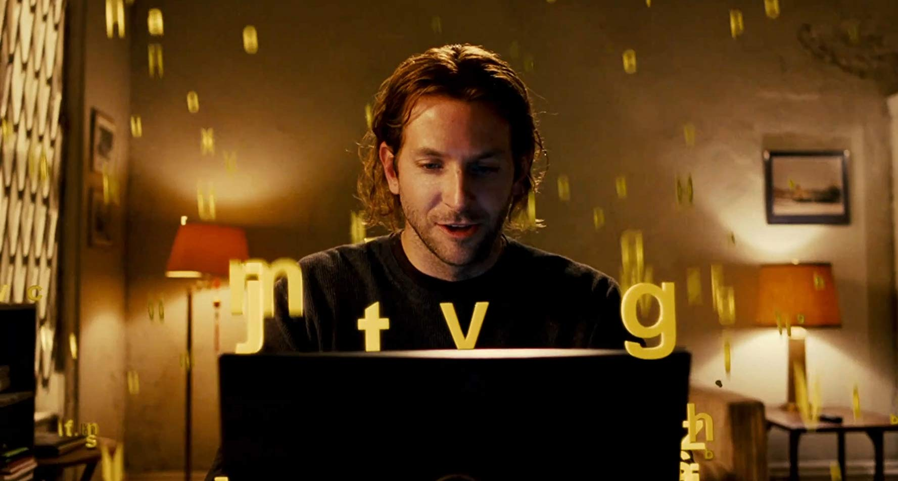 Bradley Cooper's mind starts to expand in Limitless (2011)