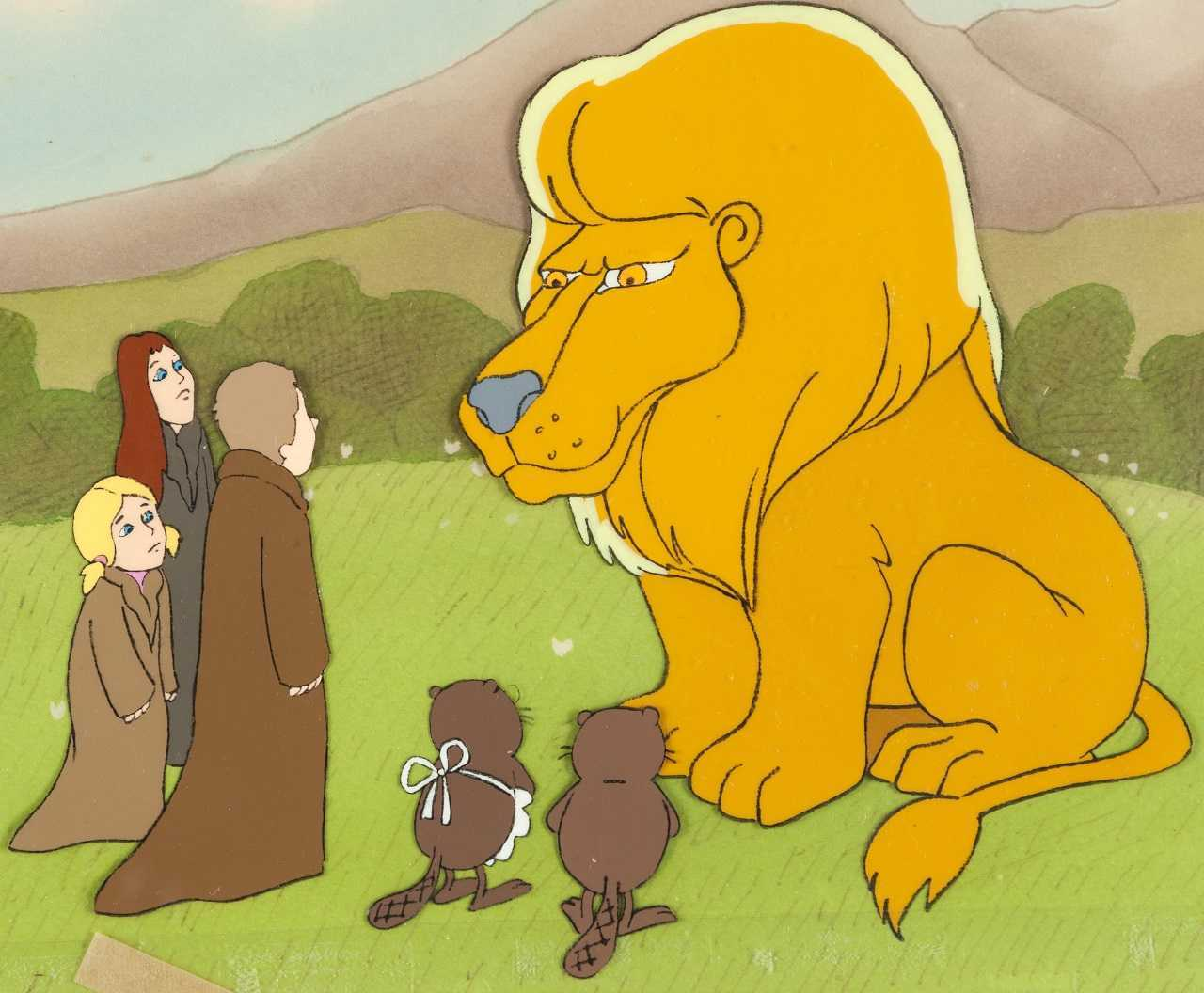 The children and the beavers meet Aslan in The Lion, The Witch & The Wardrobe (1979)
