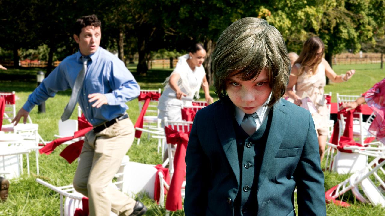 Lucas the Antichrist child (Owen Atlas) in Little Evil (2017)