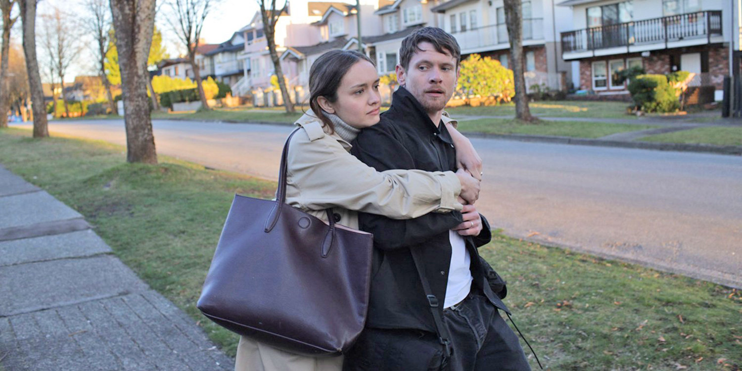 Olivia Cooke and Jack O'Connell in Little Fish (2020)