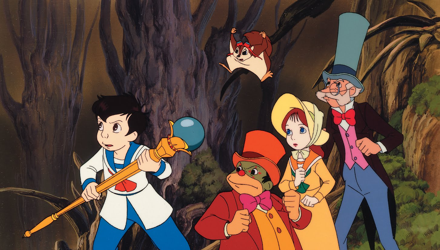 On a quest - Little Nemo, Flip, Princess Camille, Professor Genius and the squirrel Icarus in On a quest - Little Nemo, Flip, Princess Camille, Professor Genius and the squirrel IcarusLittle Nemo: Adventures in Slumberland (1989)