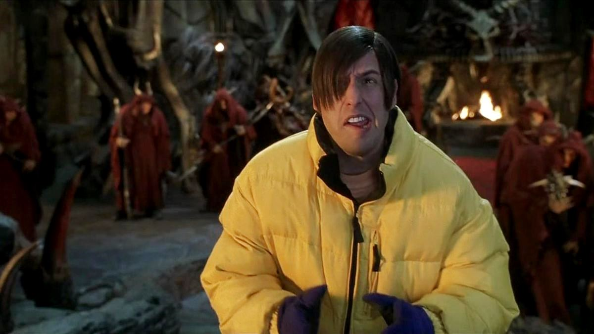 Adam Sandler as Nicky, The Devil's son in Little Nicky (2000)