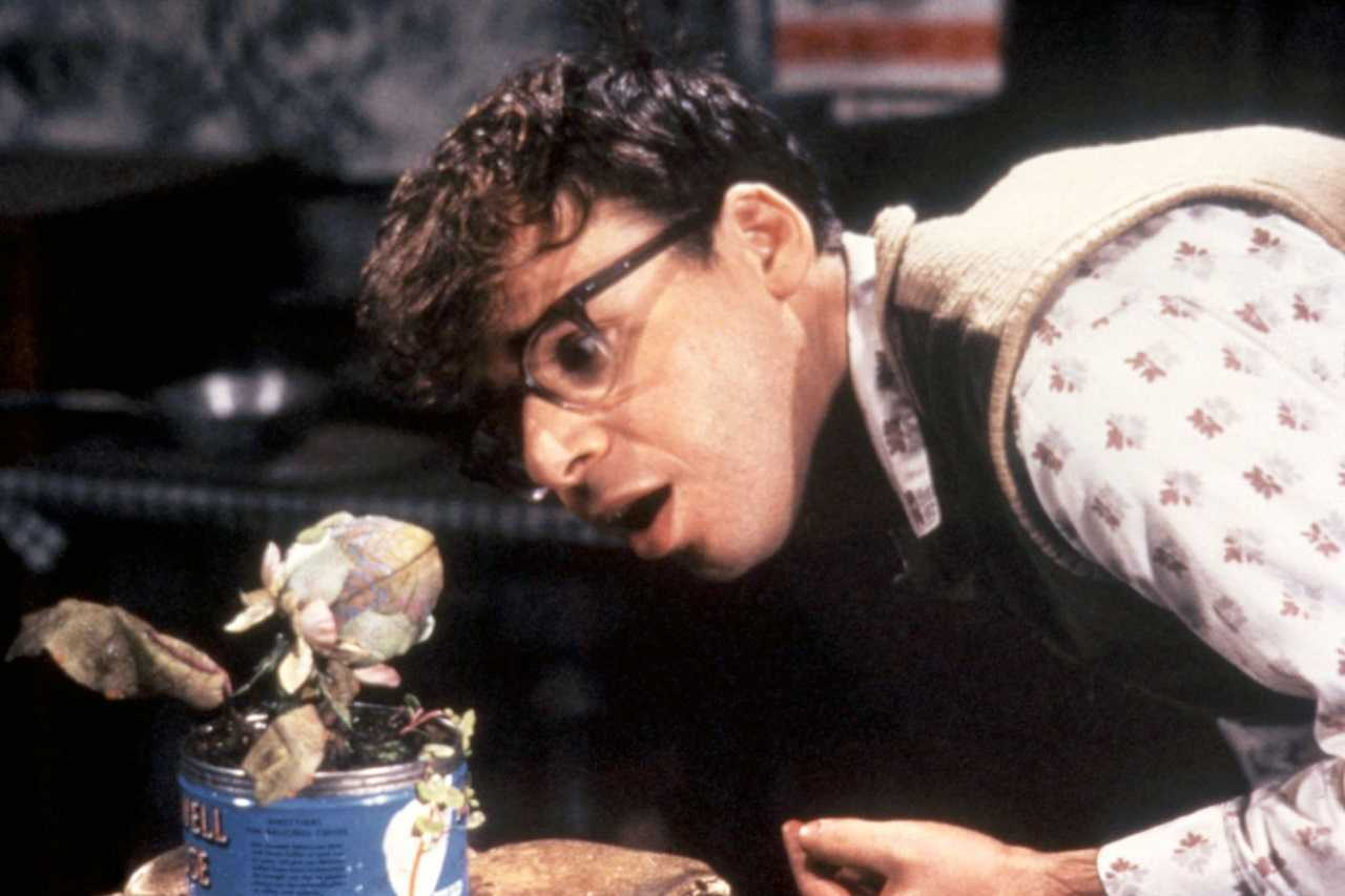 Seymour Krelborn (Ric Moranis and Audrey Jr in Little Shop of Horrors (1986)