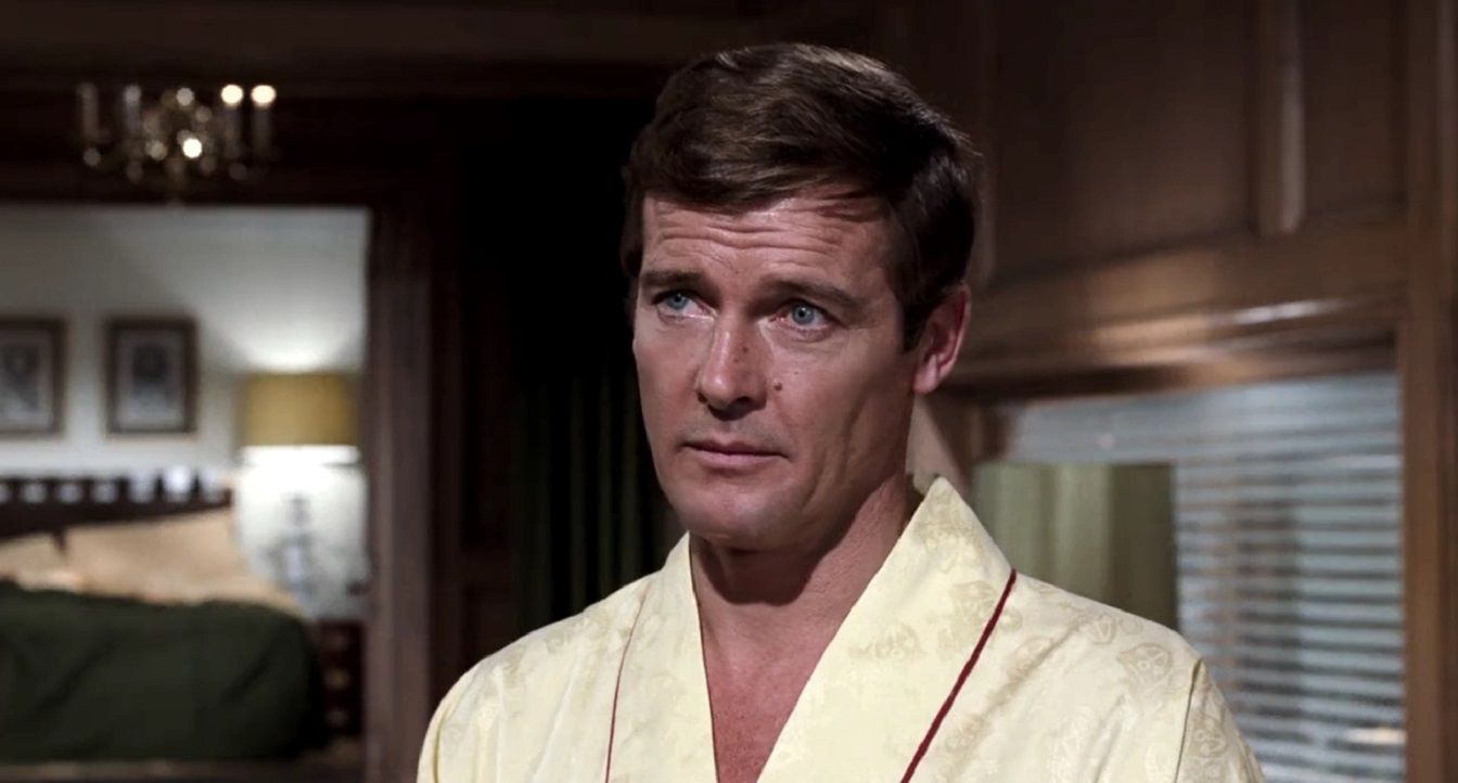 Roger Moore in his first outing as James Bond in Live and Let Die (1973)