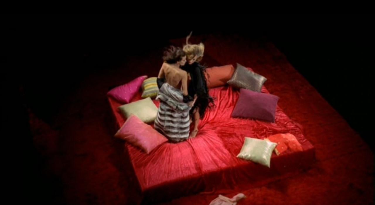 (l to r) Florinda Bolkan dreams of being seduced by Anita Strindberg in Lizard in a Woman's Skin (1971)