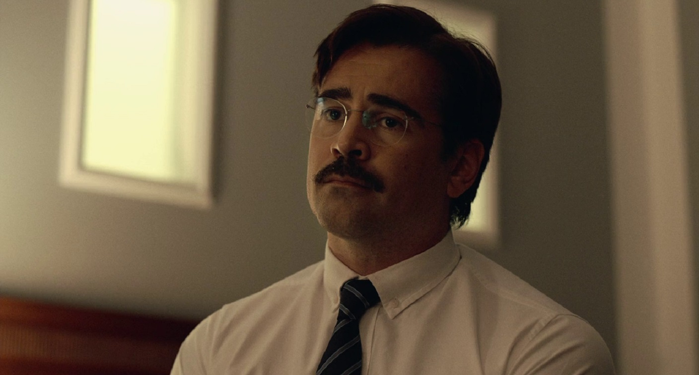 Colin Farrell as David, tasked with finding his perfect mate or being transformed into a lobetsr in The Lobster (2015)