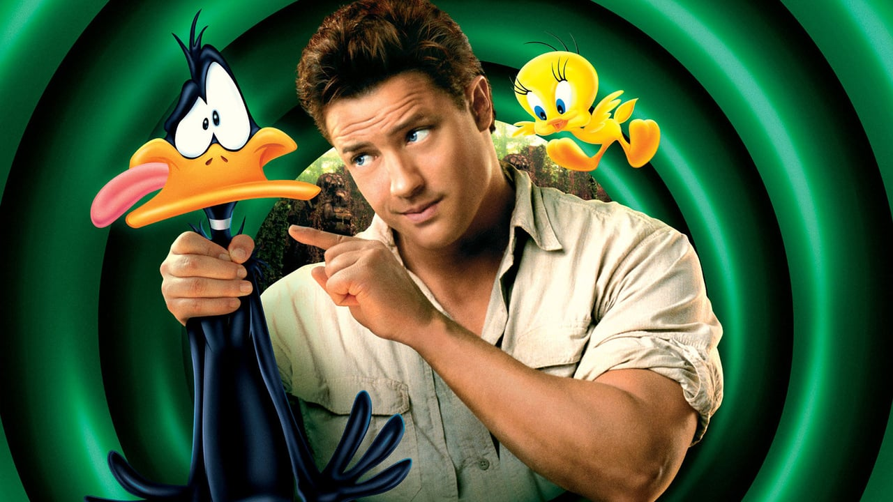 Brendan Fraser with Daffy Duck and Tweety Bird in Looney Tunes: Back in Action (2003)