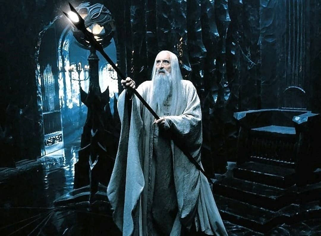 Christopher Lee as Saruman in The Lord of the Rings: The Fellowship of the Ring (2001)