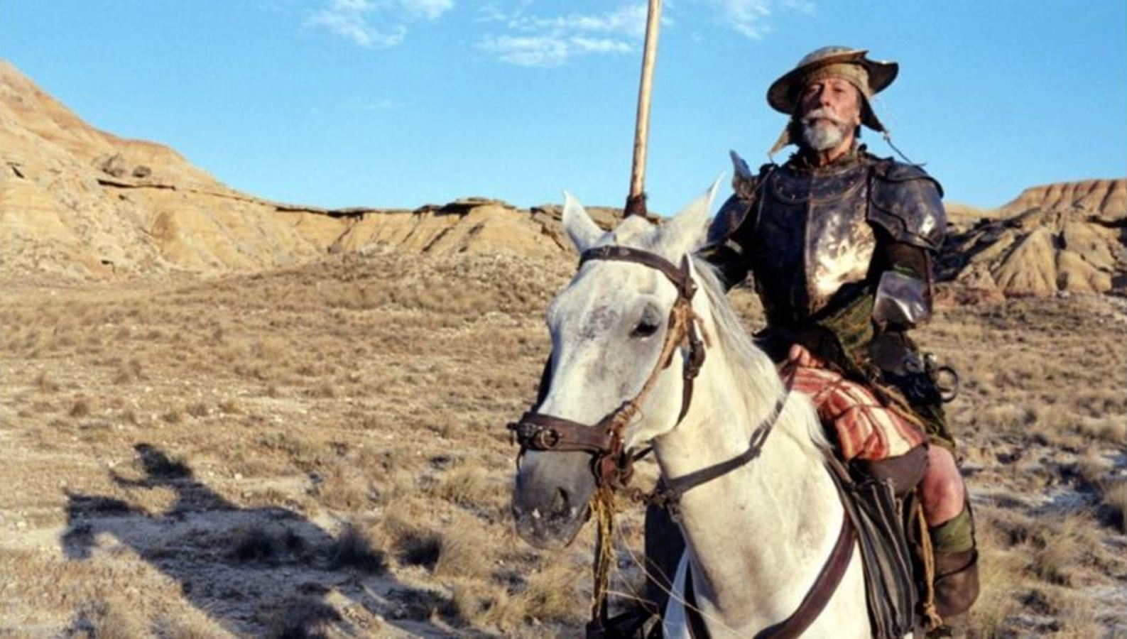 Jean Rochefort as Don Quixote in Lost in La Mancha (2002)