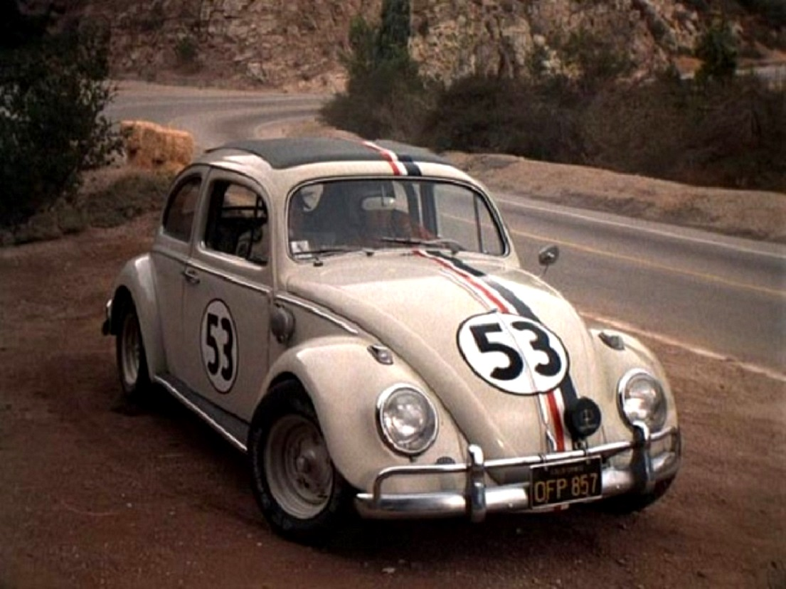 Herbie the Volkswagen with a life of its own in The Love Bug (1969)