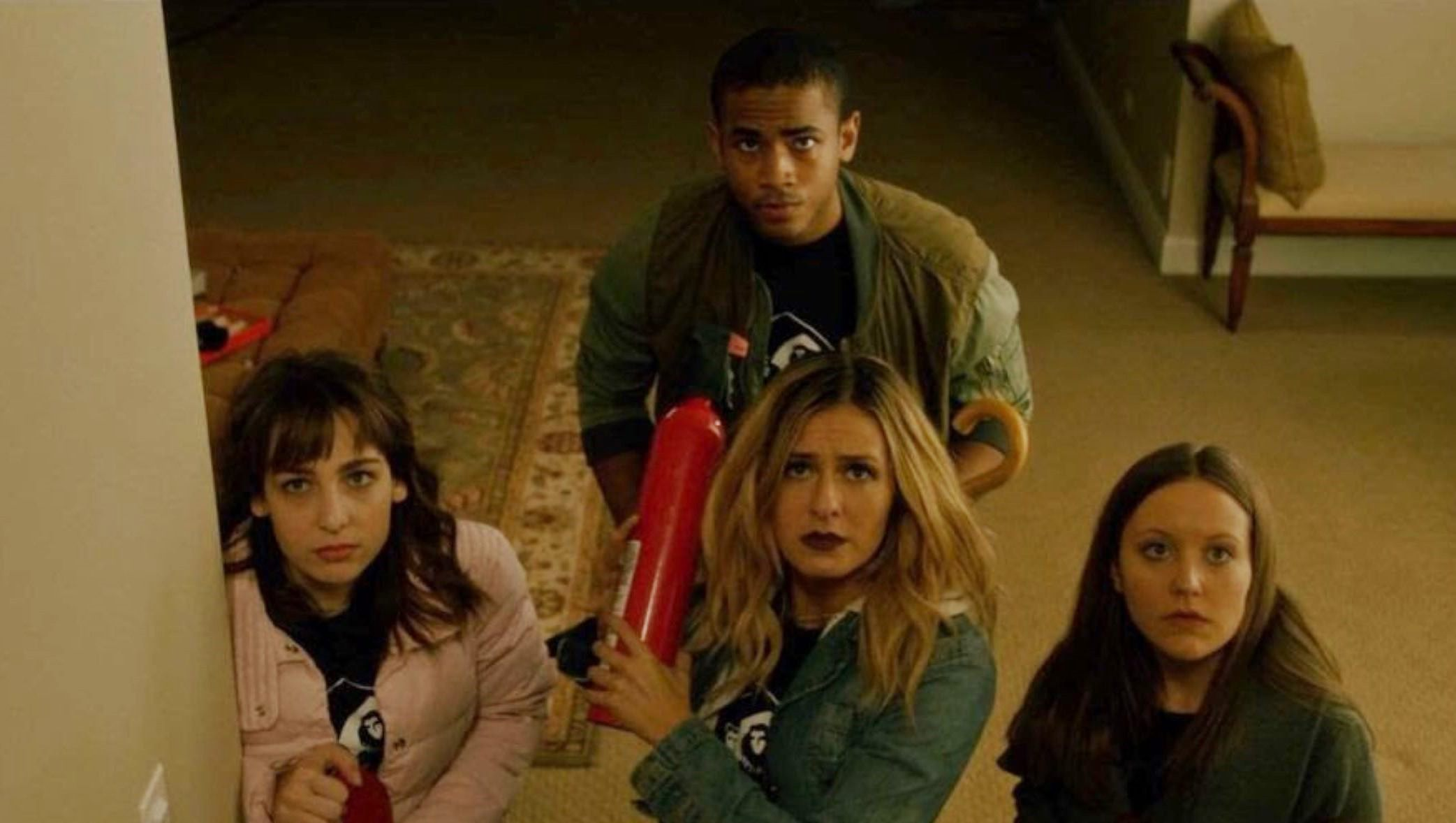 Emmaline Skillicorn, Scout Taylor-Compton, Kali Skatchke and Walter S. Bernard in The Lurker (2019)