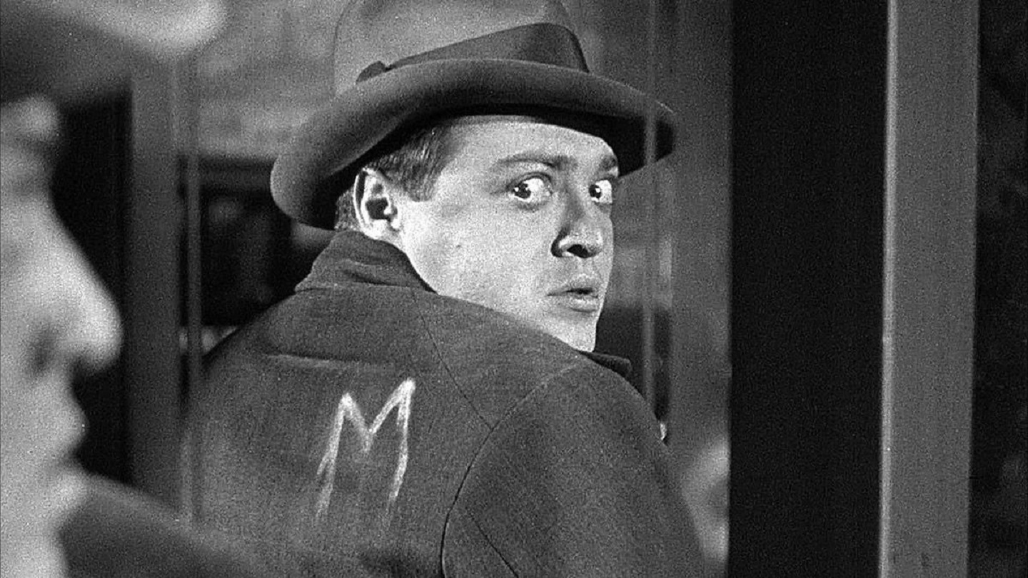 Peter Lorre as hunted child murderer Franz Becker in M (1931)