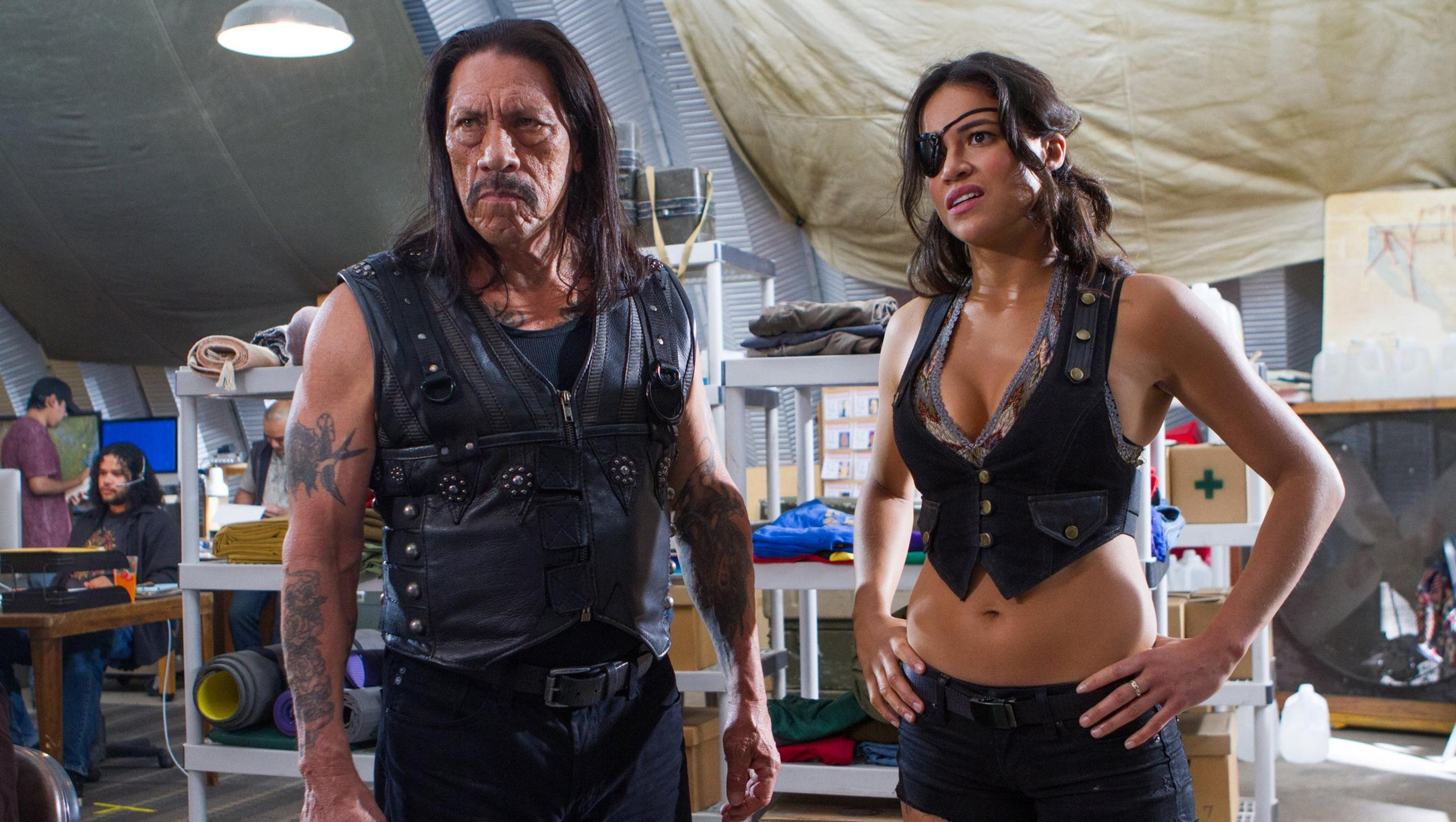 Machete (Danny Trejo) and She (Michelle Rodriguez) in Machete Kills (2013)