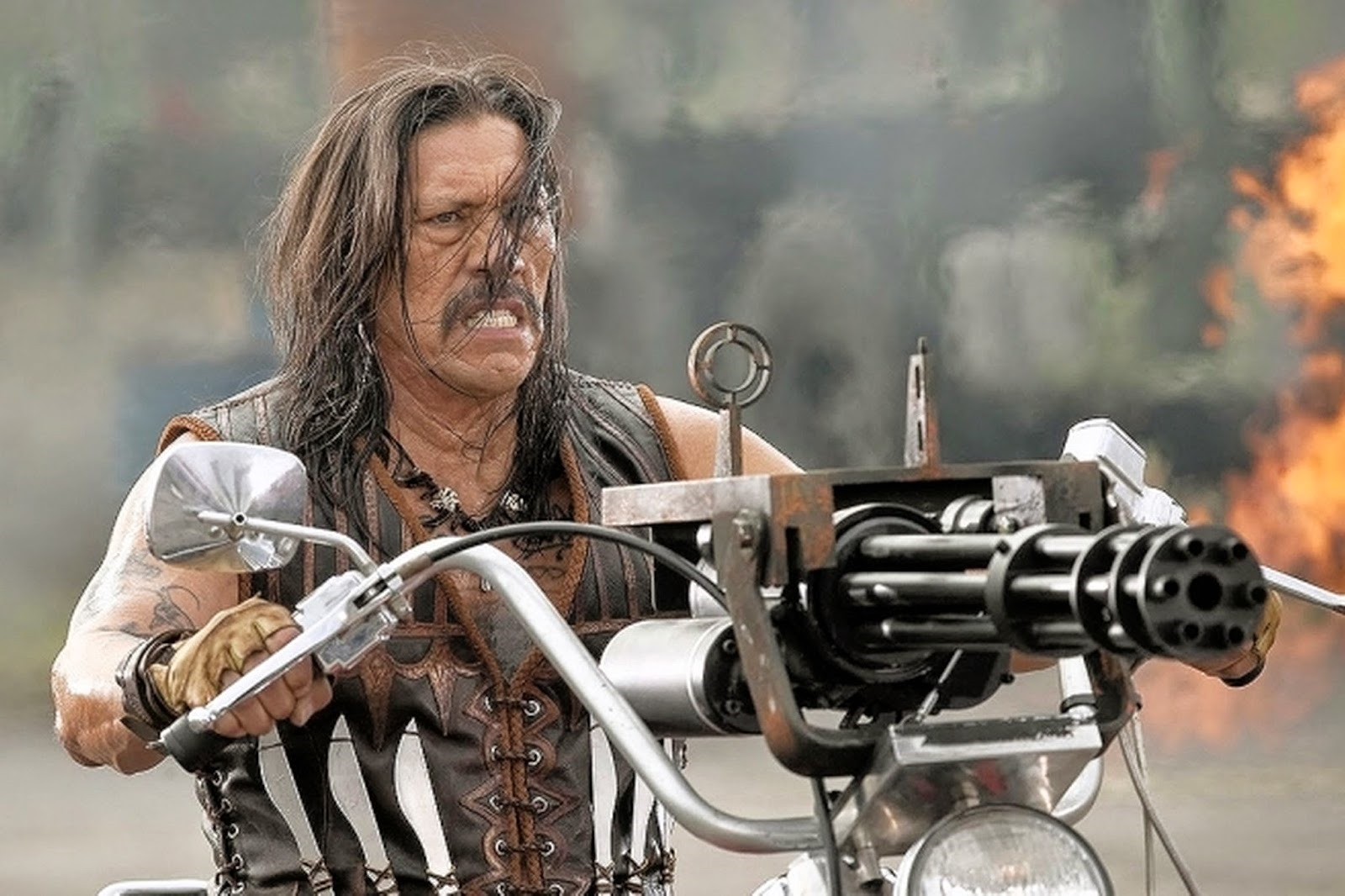 Machete (Danny Trejo) in action in Machete Kills (2013)