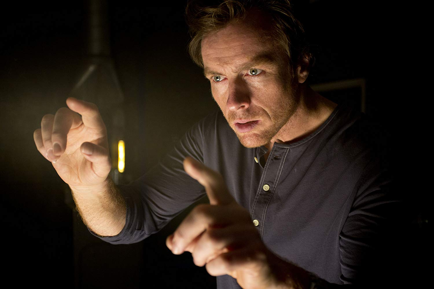 Toby Stephens as A.I. researcher Dr Vincent McCarthy in The Machine (2013)