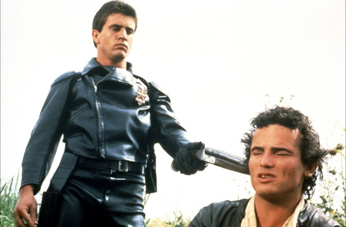 Mel Gibson with Tim Burns in Mad Max (1979)