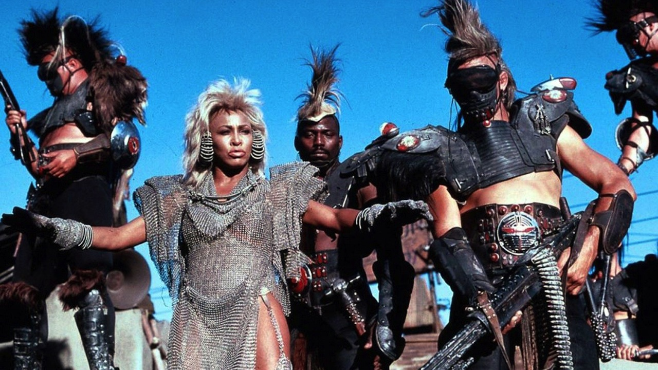 Tina Turner as Auntie Entity, the leader of Bartertown in Mad Max Beyond Thunderdome (1985)