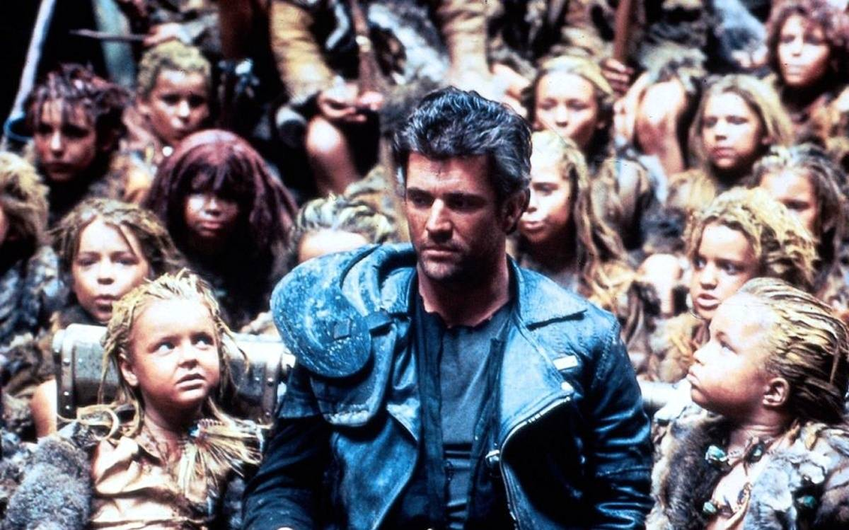 Max (Mel Gibson), the reluctant leader of a valley of lost children in Mad Max Beyond Thunderdome (1985)