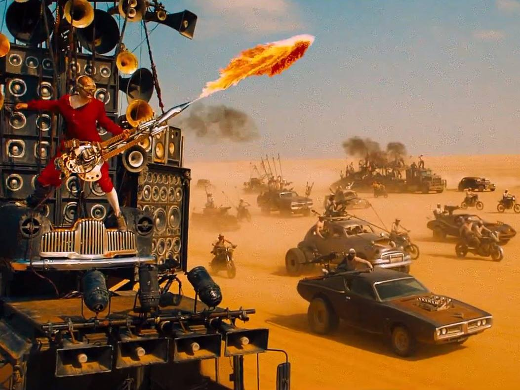 Car chase scenes in Mad Max: Fury Road (2015)